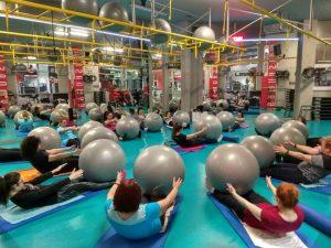 pilates balls gymnasium